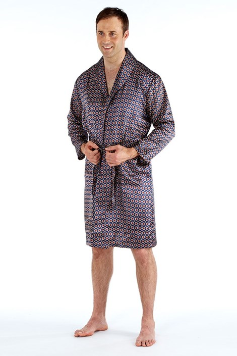 Мужской атласный халат Navy