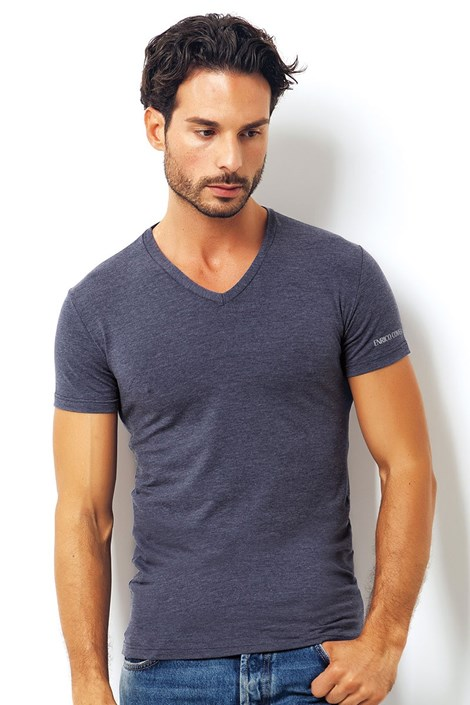 Мужская итальянская футболка Enrico Coveri 1505 Blue