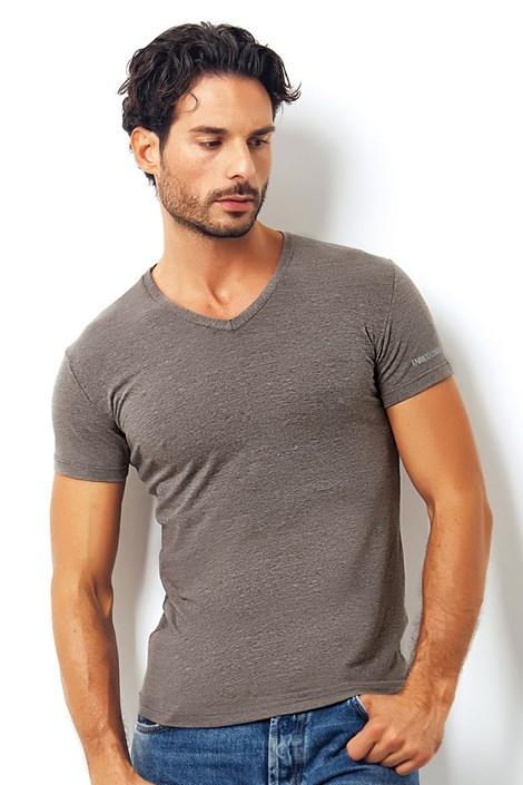 Мужская итальянская футболка Enrico Coveri1505 Brown