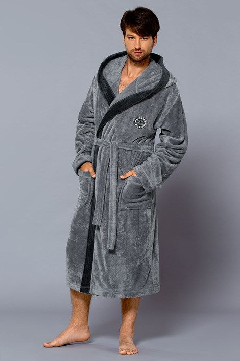 Мужской халат с капюшоном George