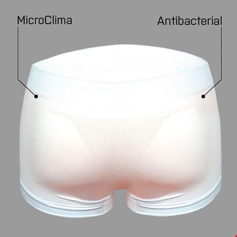 Боксерки бесшовные антибактериальные extra укороченная область голени White