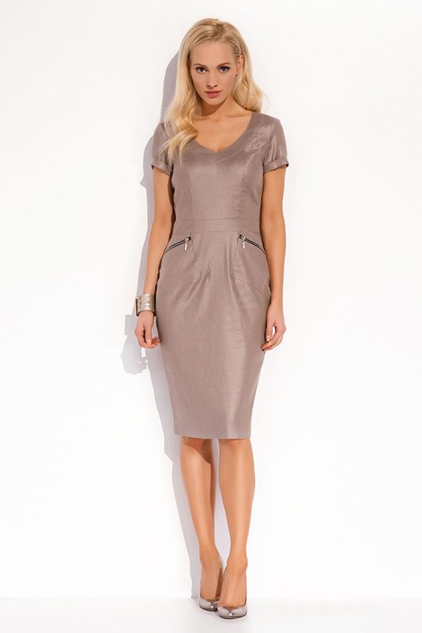 Женское роскошное льняное платье Karissa 020
