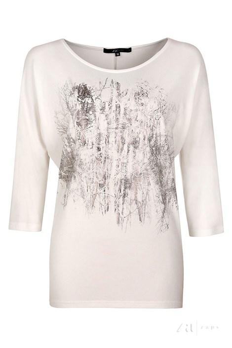 Женская элегантная футболка Kera White