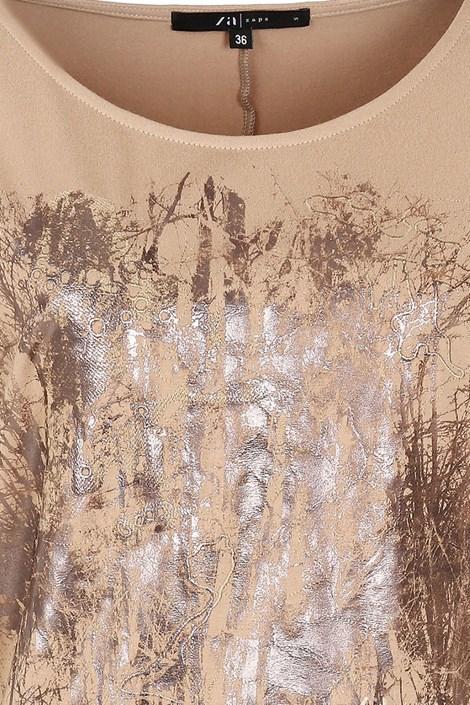 Элегантная женская футболка Kera Beige