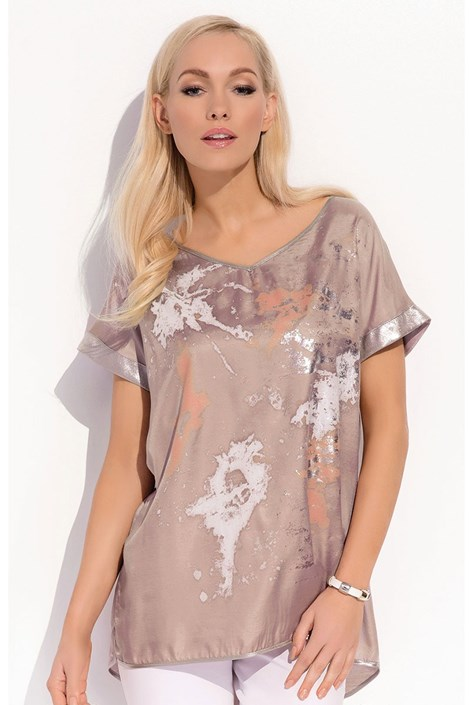 Женская роскошная футболка Kloe Brown