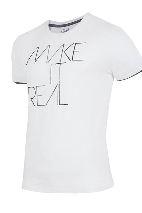 Мужская брендовая футболка 4F TSM008 White