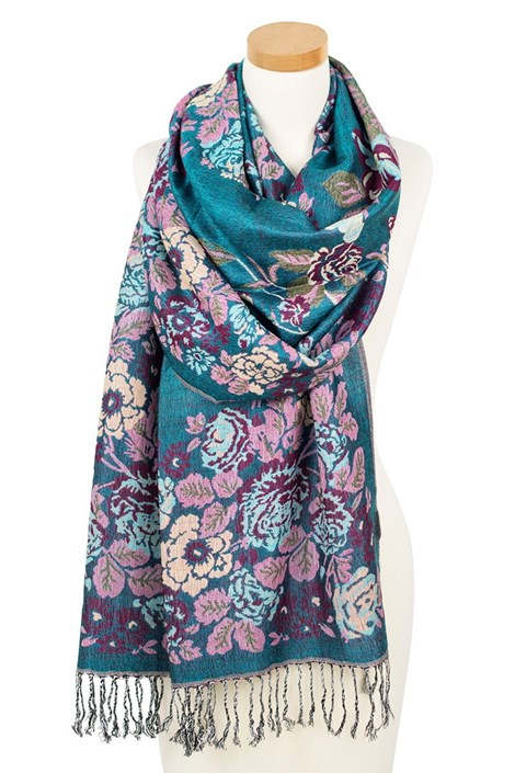 Элегантный шарфик English garden Turqoise
