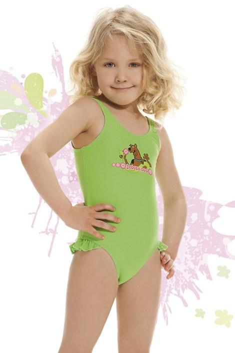 Купальник для девочек Smiling зеленый