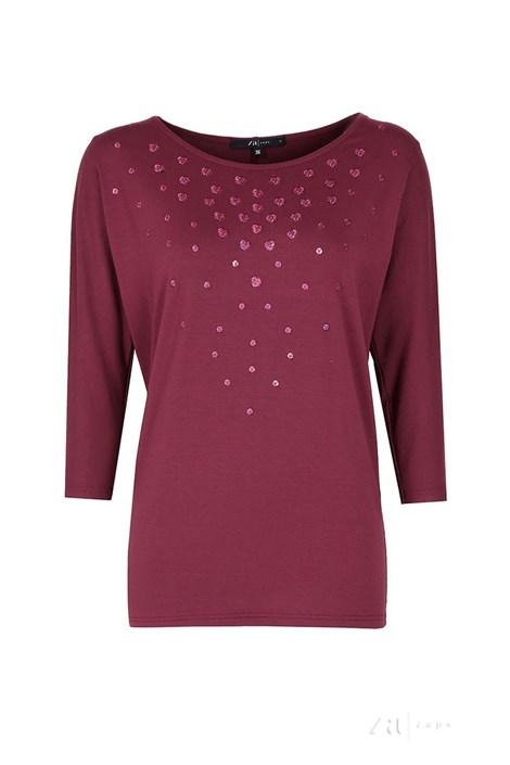 Женская элегантная блуза Tana Burgund
