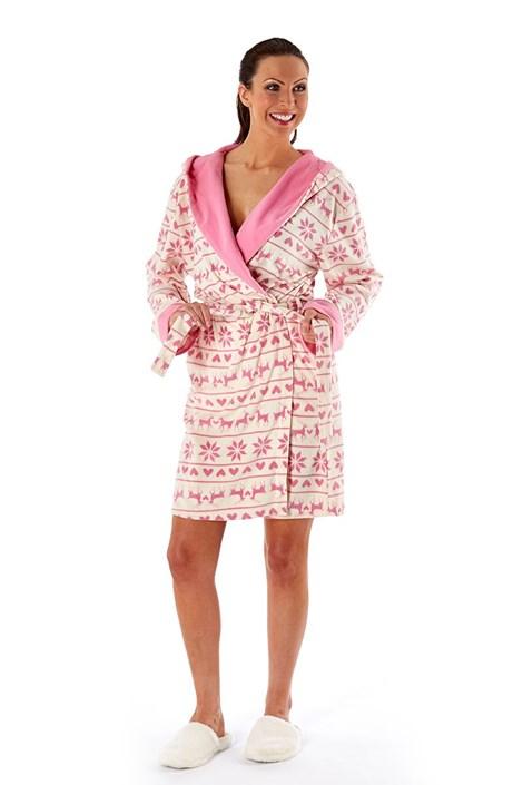 Женский халат Hearty Winter Pink