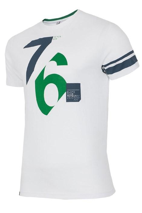 Мужская хлопковая футболка 76 White