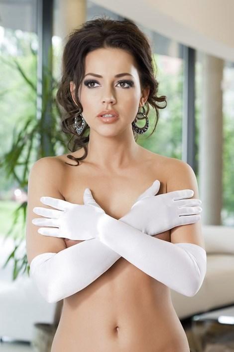 Перчатки Astrid атласные белые
