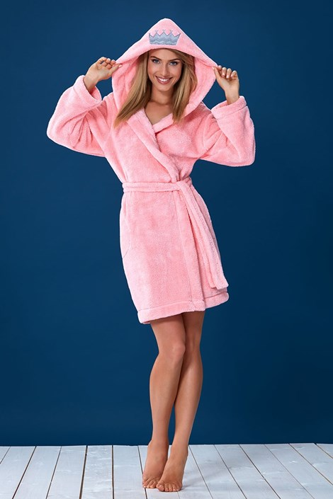 Женский теплый халат Gaiana Pink