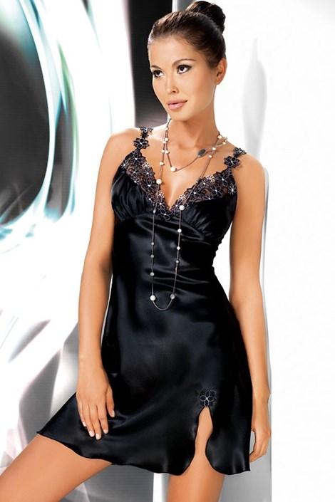 Атласная сорочка Mirabelle Black