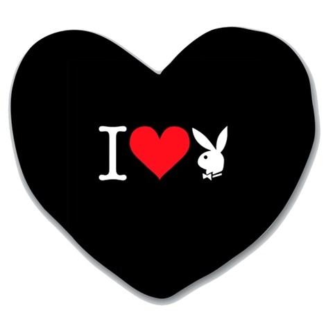 Подушка Heart Bunny black