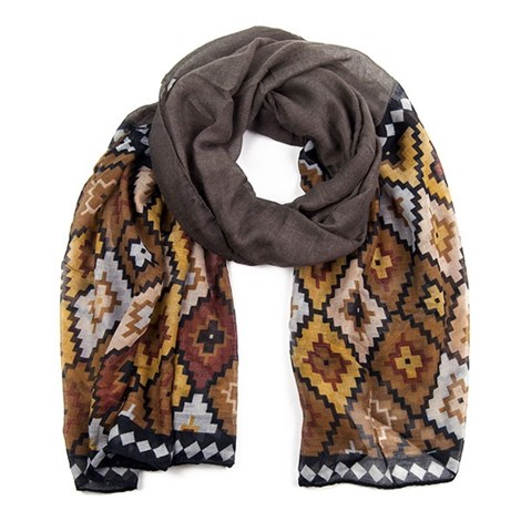 Женский шарфик Abstrakt Brown