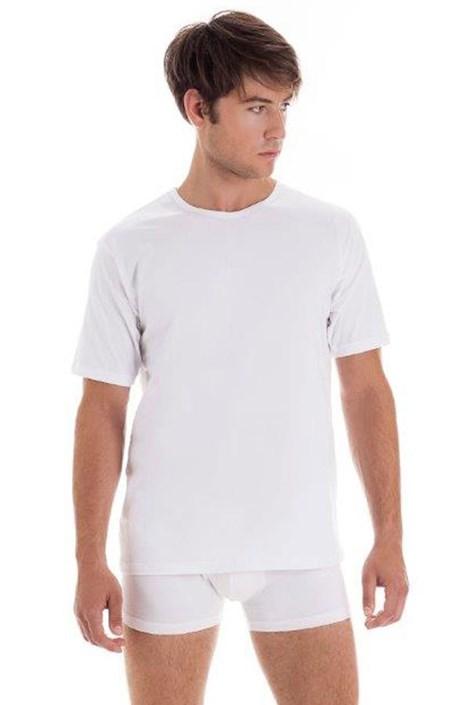 Мужская хлопковая футболка с коротким рукавом White