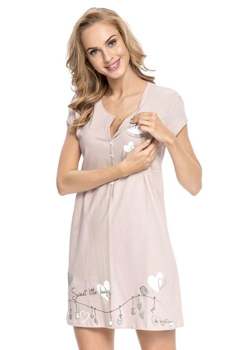 Сорочка для беременных и кормящих мам Tamara Beige