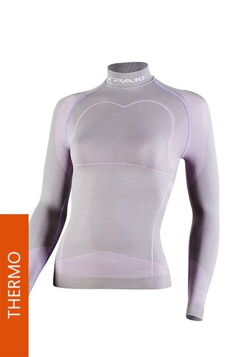 Футболка Thermo Line W03 женская серо-розовая