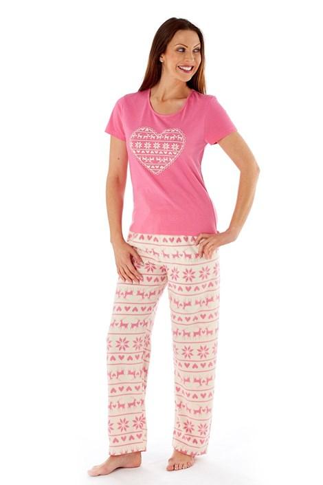 Женская пижама Hearty Winter Pink