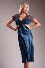 Элегантная длинная атласная сорочка Paris