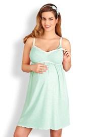 Сорочка для беременных и кормящих мам Laura мятная