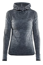 Женская функциональная толстовка Craft Core Hood Seamless Grey