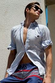 Мужская льняная сорочка из итальянской коллекции David