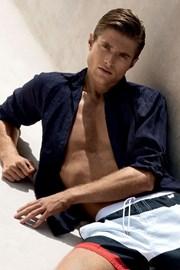 Мужская льняная сорочка из итальянской коллекции David 5181