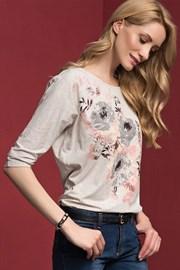 Женская цветочная блуза Adelina Beige