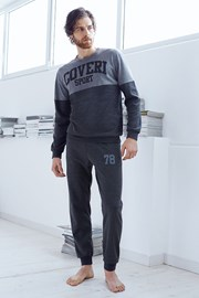 Мужской хлопковый комплект Valerio серый