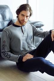 Мужской хлопковый комплект Dario серый