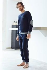 Мужской хлопковый комплект Angelo синий