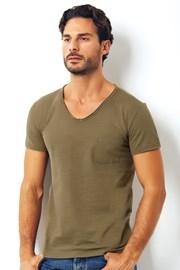 Мужская итальянская футболка Enrico Coveri 1512 Salvia