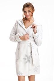 Женский халат Snowflakes White