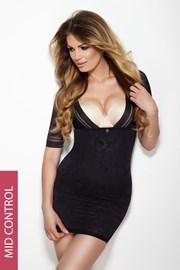 Утягивающее платье Glossy черное