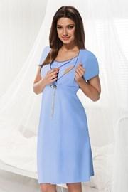 Сорочка для беременных и кормящих мам Dorota синяя