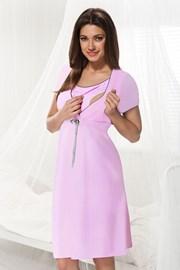 Сорочка для беременных и кормящих мам Dorota розовая