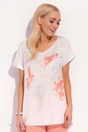 Женская роскошная футболка Kloe White