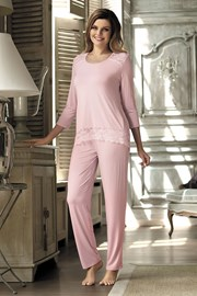 Женская элегантная пижама Olimpia Pink