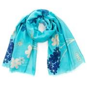 Романтический шарфик Flowers бирюзовый