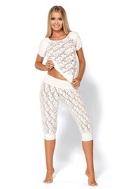 Соблазнительная роскошная пижама Thelma Ecru