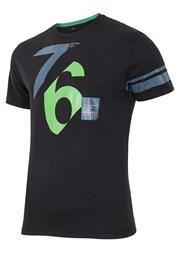 Мужская хлопковая футболка 76 Black