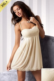 Роскошная сорочка + танга Nicolette Cream
