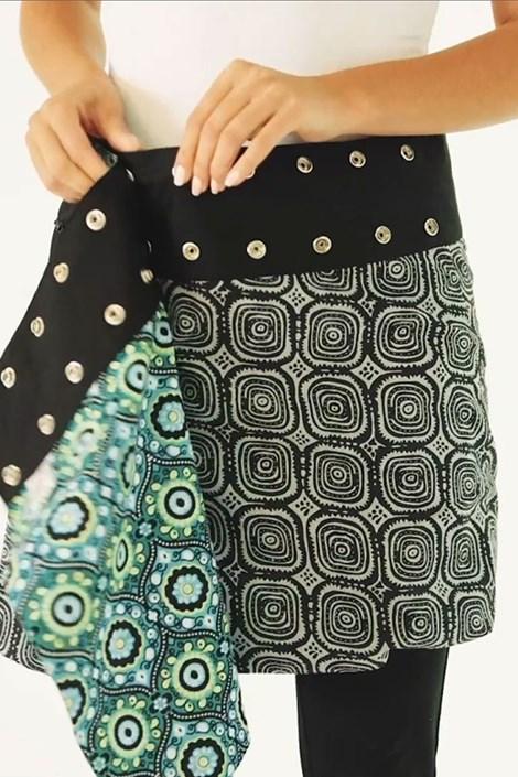 Двусторонняя юбка Himalaya ручная работа из 100% хлопка