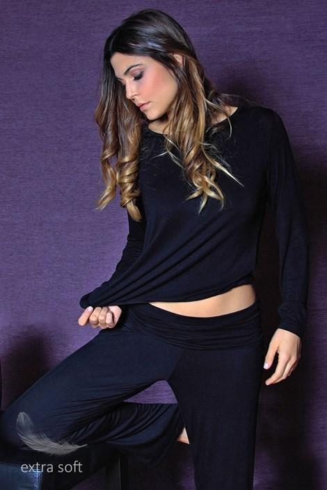 Женские комфортные штаны Fashion Black из вискозы