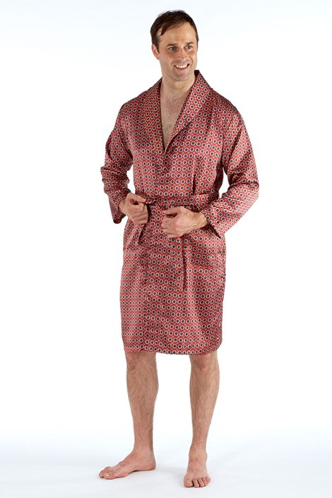 Мужской атласный халат Maroon