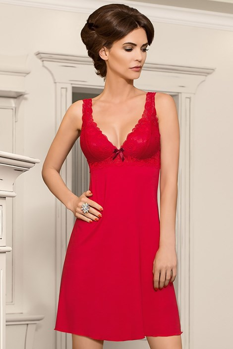 Женская ночная сорочка Bona - красная