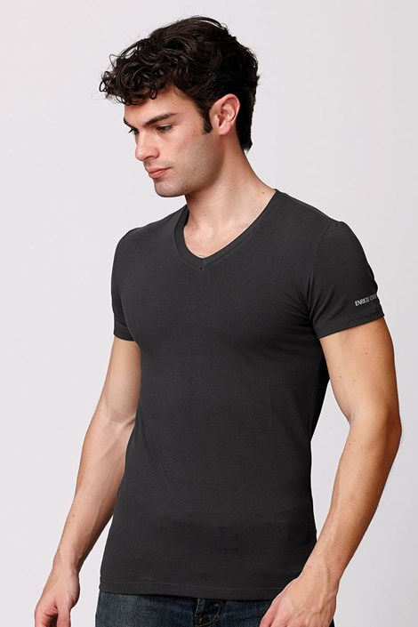 Мужская итальянская футболка Enrico Coveri ET1501 Londra хлопковая