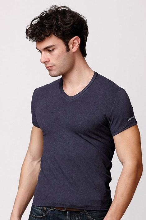 Мужская итальянская футболка Enrico Coveri ET1505 Blumel хлопковая